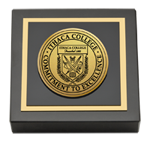 Ithaca College Paperweight - Gold Engraved Medallion Paperweight