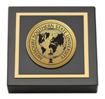 Missouri Southern State University Paperweight - Gold Engraved Medallion Paperweight