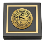 San Francisco State University Paperweight - Gold Engraved Medallion Paperweight