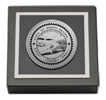 State of South Dakota Paperweight - Silver Engraved Medallion Paperweight