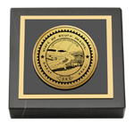 State of South Dakota Paperweight - Gold Engraved Medallion Paperweight