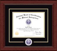 National Board of Certification for Medical Interpreters Certificate Frame - Lasting Memories Circle Seal Certificate Frame in Sierra
