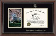 Supreme Court of the United States Certificate Frame - Cherry Blossom Scene Certificate Frame in Chateau