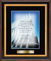 United States Air Force Academy Graditude Frame - Air Force Military Gratitude Frame - Cadet Chapel in Verona