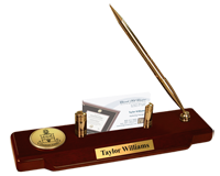 Alpha Chi Omega Desk Pen Set - Gold Engraved Medallion Desk Pen Set