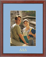 Delta Delta Delta Photo Frame - Embossed Greek Letters Photo Frame in Signet