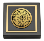 Meredith College Paperweight - Gold Engraved Medallion Paperweight