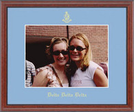 Delta Delta Delta Photo Frame - 8' x 10' - Wall Hanging Embossed Photo Frame in Signet