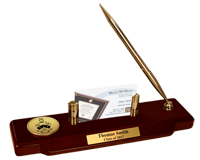 Phi Gamma Delta Desk Pen Set - Gold Engraved Medallion Desk Pen Set