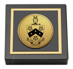 Phi Gamma Delta Paperweight - Gold Engraved Medallion Paperweight