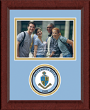 Delta Delta Delta Photo Frame - 4' x 6' - Lasting Memories Circle Logo Photo Frame in Sierra