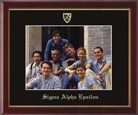 Sigma Alpha Epsilon Photo Frame - 8' x 10' -Wall Hanging Embossed Photo Frame in Galleria