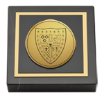 Sigma Alpha Epsilon Paperweight - Gold Engraved Medallion Paperweight