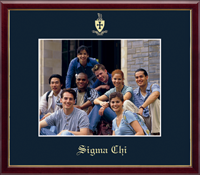 Sigma Chi Photo Frame - 8' x 10' - Wall Hanging Embossed Photo Frame in Galleria