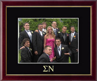 Sigma Nu Photo Frame - Greek Letters Embossed Photo Frame in Galleria