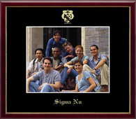 Sigma Nu Photo Frame - 8' x 10' - Wall Hanging Embossed Photo Frame in Galleria