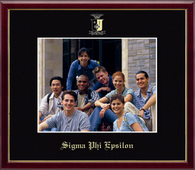 Sigma Phi Epsilon Photo Frame - 8' x 10' - Wall Hanging Embossed Photo Frame in Galleria