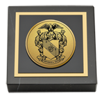 Theta Chi Paperweight - Gold Engraved Medallion Paperweight