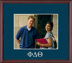 Phi Delta Theta Photo Frame - Embossed Greek Letters Photo Frame in Camby