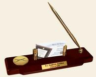 Infantry Gifts and Desk Accessories Desk Pen Set - Gold Engraved Medallion Desk Pen Set