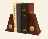 Optometry Gifts and Desk Accessories Bookends - Gold Engraved Medallion Bookends