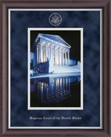 Supreme Court of the United States Lithograph Frame - Night Reflection Scene Silver Embossed Photo Frame in Devonshire