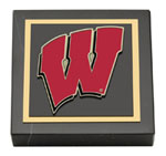University of Wisconsin Madison Paperweight - Spirit Motion W Medallion Paperweight