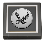 Eastern Washington University Paperweight - Silver Engraved Medallion Paperweight