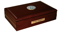 Marquette University Desk Box - Brass Masterpiece Medallion Desk Box