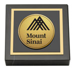Mount Sinai School of Medicine Paperweight - Gold Engraved Medallion Paperweight