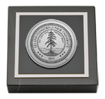 Stanford University Paperweight - Silver Engraved Medallion Paperweight