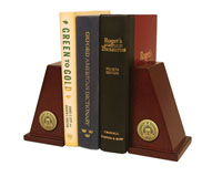 University of Evansville Bookends - Gold Engraved Medallion Bookends