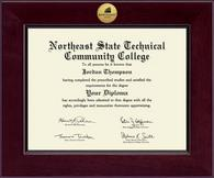 Northeast State Community College Diploma Frame - Century Gold Engraved Diploma Frame in Cordova
