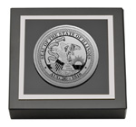 State of Illinois Paperweight - Silver Engraved Medallion Paperweight