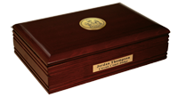State of Maine Desk Box - Gold Engraved Medallion Desk Box