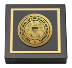 State of Mississippi Paperweight - Gold Engraved Medallion Paperweight
