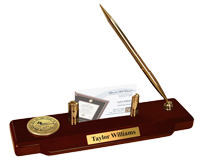 State of Montana Desk Pen Set - Gold Engraved Medallion Desk Pen Set