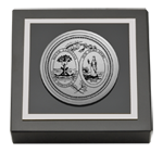 State of South Carolina Paperweight - Silver Engraved Medallion Paperweight