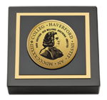 Haverford College Paperweight - Gold Engraved Paperweight