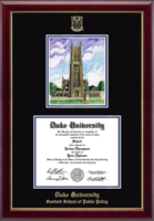 Duke University Diploma Frame - Campus Scene Overly Edition Diploma Frame in Gallery