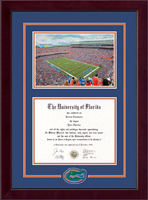 University of Florida Diploma Frame - Spirit Medallion Campus Scene Diploma Frame in Cordova