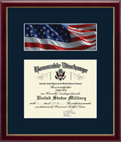 United States Air Force Certificate Frame - US Air Force Photo and Honorable Discharge Certificate Frame - Flag in Galleria