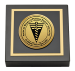 American Board of Physical Therapy Specialties Paperweight - Gold Engraved Paperweight