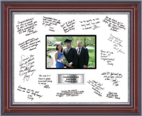 Rye High School in New York Autograph Frame - Autograph Frame - Silver Plate - 11 x 14 - fits 4x6 photo - Horizontal in Kensington Silver