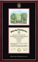 University of South Carolina Diploma Frame - Campus Scene Overly Edition Diploma Frame in Galleria
