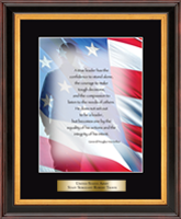 United States Coast Guard Graditude Frame - Military Gratitude Frame - Salute Image with Brass Plate in Verona