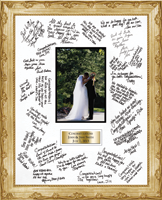 Autograph Frames Autograph Frame - Autograph Frame - Brass Plate - 11 x 14 - fits 4x6 photo in Essex