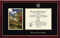 Vermont Law School Diploma Frame - Campus Scene Diploma Frame in Galleria