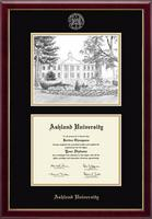 Ashland University Diploma Frame - Campus Scene Overly Photo Diploma Frame in Galleria