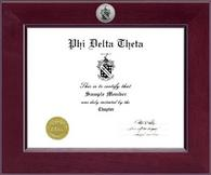 Phi Delta Theta Certificate Frame - Century Silver Engraved Certificate Frame in Cordova